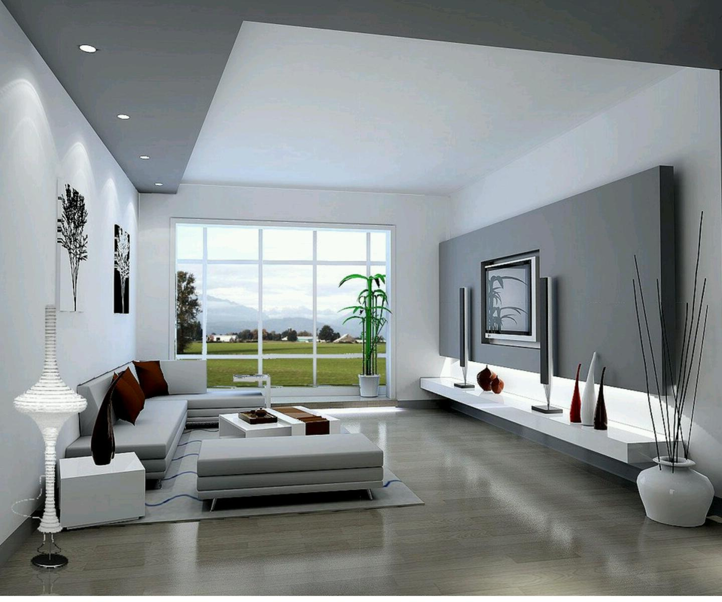 New Home Designs Latest Homes Interior Designs Studyrooms: Şık Ve Trend ; Modern Salon Modelleri